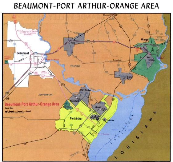 Map Of Beaumont Texas.Map Of Beaumont Texas March 2006